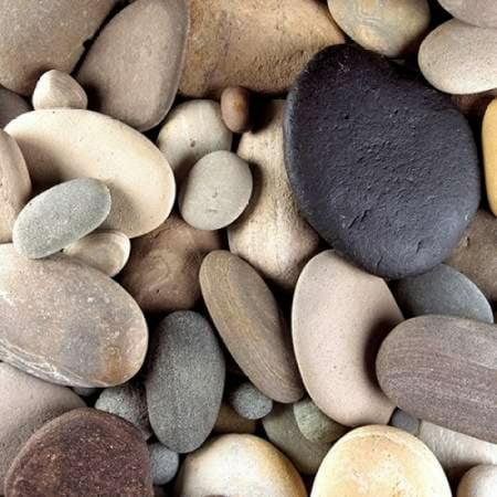 Brown Pebbled (Brown Pebbles Stretched Canvas - PhotoINC Studio (12 x 12))