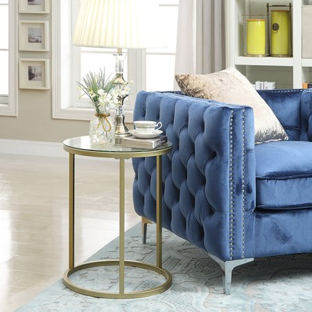 Carolina Chair and Table Alva Glass Top Side Accent Table