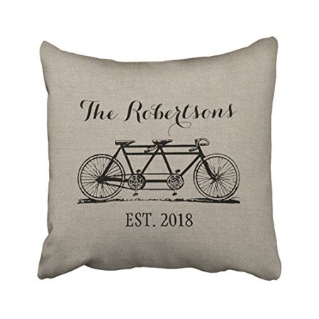 Popular Scandinavian Fashions (WinHome Rustic Vintage Bicycle Old Fashioned Shabby Chic Popular Elegant Polyester 18 x 18 Inch Square Throw Pillow Covers With Hidden Zipper Home Sofa Cushion Decorative)