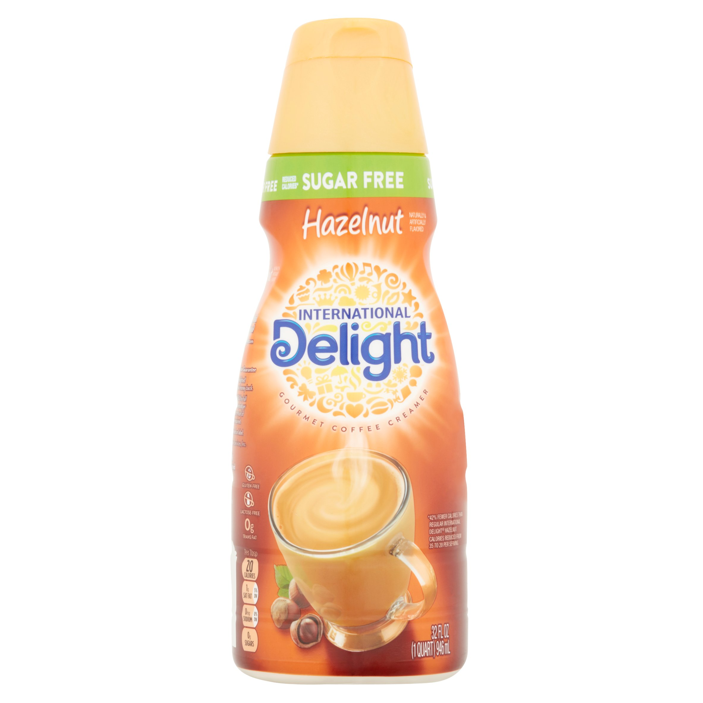 International Delight Sugar Free Toasted Hazelnut Coffee Creamer, 32 oz
