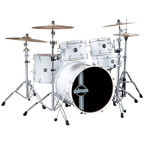 ddrum Reflex White White Kit 5-Piece SP 22 by ddrum