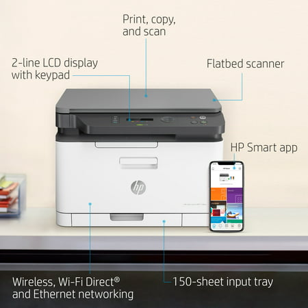 HP MFP 178nw Wireless All-in-One Color Laser Printer (4ZB96A) ()