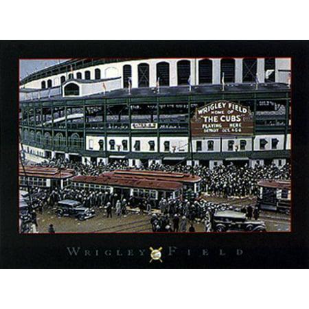Wrigley Field Replica (Wrigley Field by Darryl Vlasak 5x7 Poster )