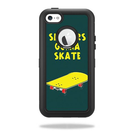 Skin For OtterBox Defender iPhone 5C Case – Skaters Gonna Skate | MightySkins Protective, Durable, and Unique Vinyl Decal wrap cover | Easy To Apply, Remove, and Change Styles | (Skate Case)