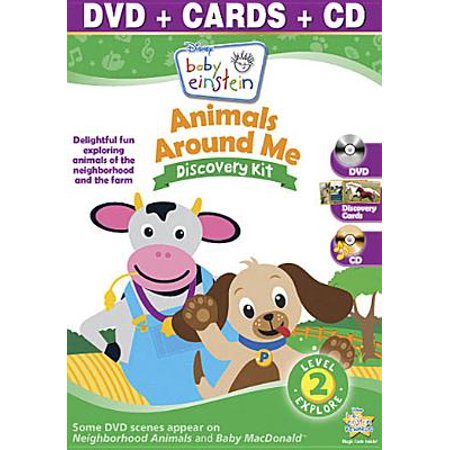 Baby Einstein: Animals Around Me Discovery Kit (DVD + Audio CD + Discovery Cards) (Full