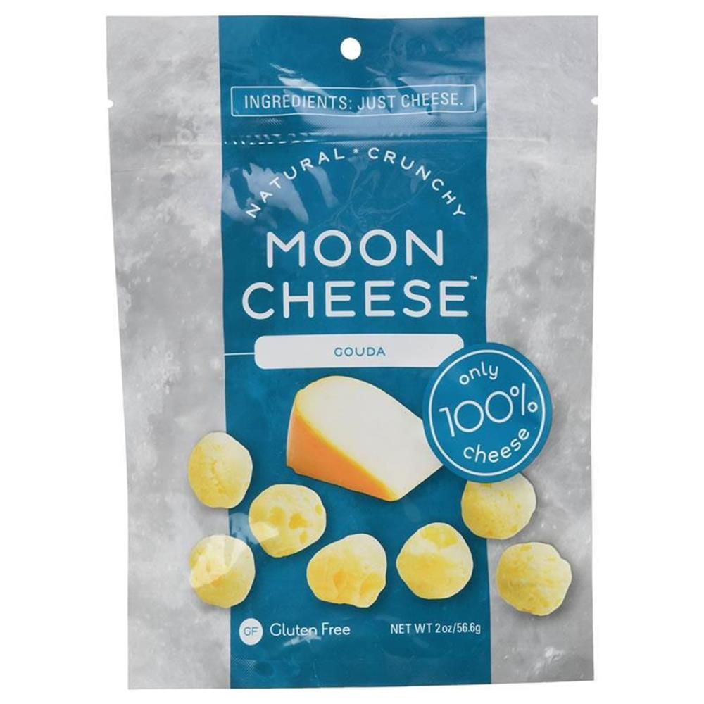 Moon Cheese Crunchy Gouda Snack Gluten-Free 100% Natural Protein Calcium 00502
