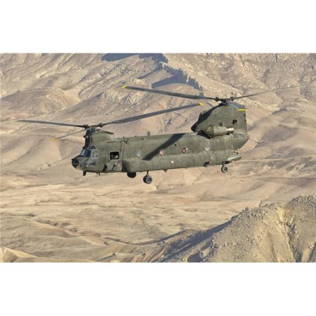 StockTrek Images PSTGCA100120M Italian Army Ch-47C Chinook Helicopter in Flight Over Afghanistan in Support of The International Security Assistance Force, Isaf Mission Poster Print, 17 x 11 - image 1 de 1