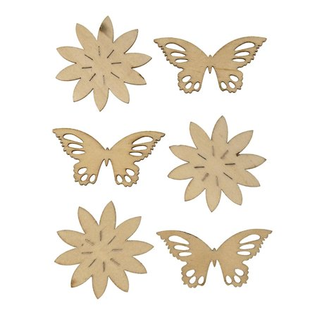 Butterfly Laser Cut Wooden Stickers, Natural,  2-1/4-Inch, 6-Count](Wooden Butterfly)