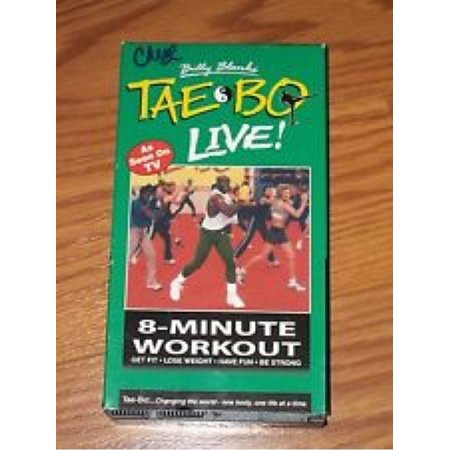 Billy Blanks' Tae Bo Live! - 8-Minute Workout Video VHS Tape 1999 VG! #U101