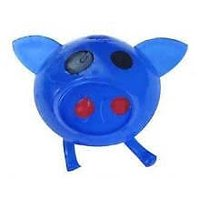 Splat Balls Squishy Squeeze Sticky Stress Relief Mesh BLUE PIG