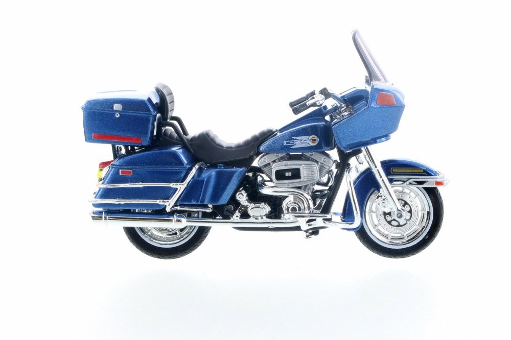 1980 Harley Davidson FLT Tour Guide, Blue Maisto 31360 31 1 18 Scale Diecast Model Toy Car by ModelToyCars