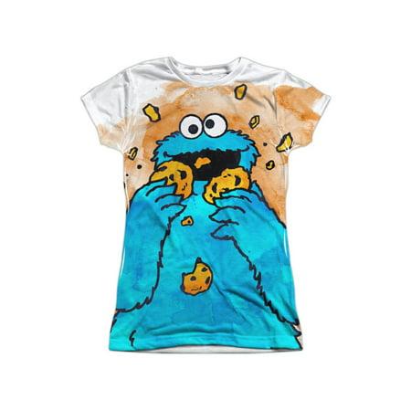 Sesame Street Classic TV Show Cookie Monster Crumbs Juniors Front Print