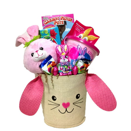 Bunny Hop Girls Easter Basket - Pre Made Easter Baskets