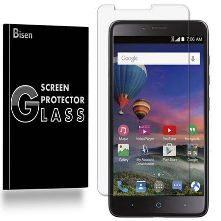 ZTE Zmax Pro [2-Pack BISEN] 9H Tempered Glass Screen Protector, Anti-Scratch, Anti-Shock, Shatterproof, Bubble Free