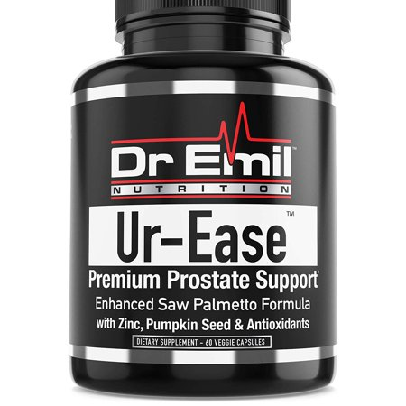 Dr. Emil UR-Ease Prostate Support w/Saw Palmetto & Potent Antioxidants - Prostate Health Supplement for Frequent Urination & Bladder Control (60 Veggie (Best Foods For Bladder Health)