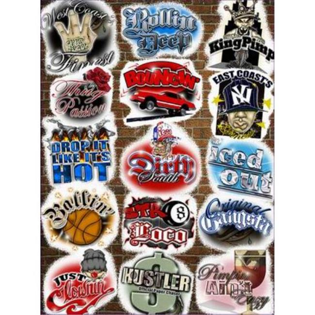 Bulk Buys Assorted Novelty Street Slang Stickers - Case of 144