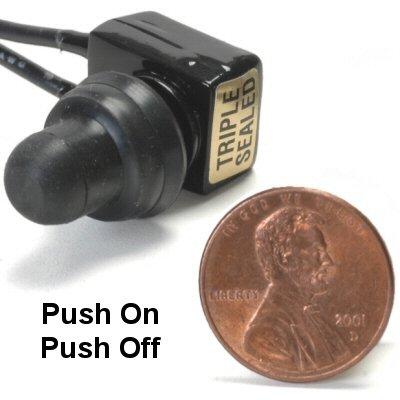 K-Four Micro Mini Sand Sealed 10 Amp Push Off / Push On Push Button Switch