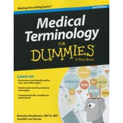 Medical Terminology for Dummies (Paperback)