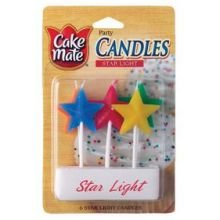 Cake Mate Candles, Star Light (Pack of 2)