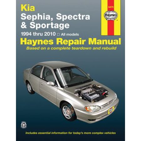 Haynes Kia Sephia  Spectra   Sportage 1994 Thru 2010 Automotive Repair Manual
