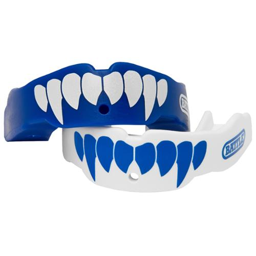 NEW 2 PACK ALL SPORTS TAPOUT MOUTHGUARD BLUE YELLOW ADULT AGES 12 UP