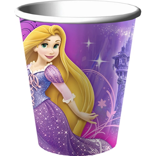 Tangled Sparkle 9oz Paper Cups (8ct)