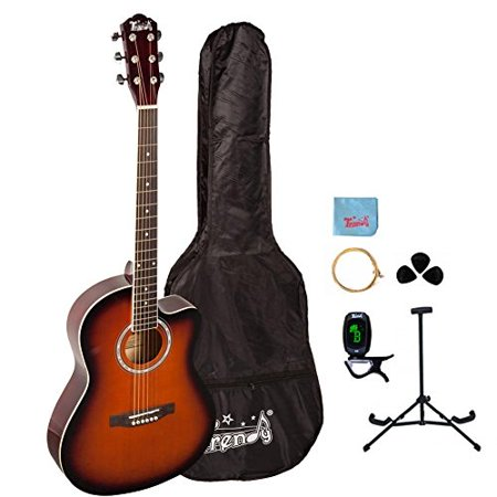 38 Inch Top (Trendy 38 Inch Spruce Top Dreadnought Acoustic Guitar - Black )