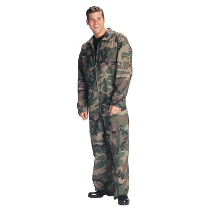 Woodland Camo CWU-27P Style Flightsuit, Coverall (Camo Overalls)