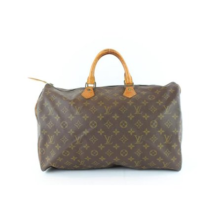 Speedy Monogram 40 227851 Brown Coated Canvas Satchel