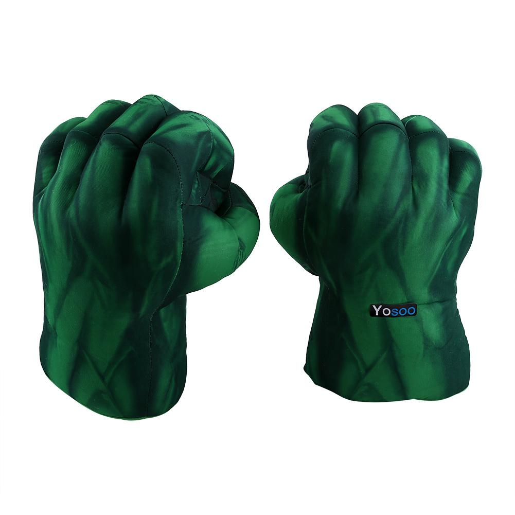 Pair Incredible Hulk Smash Hands Cosplay Gloves Plush Punching Boxing Fists Toys