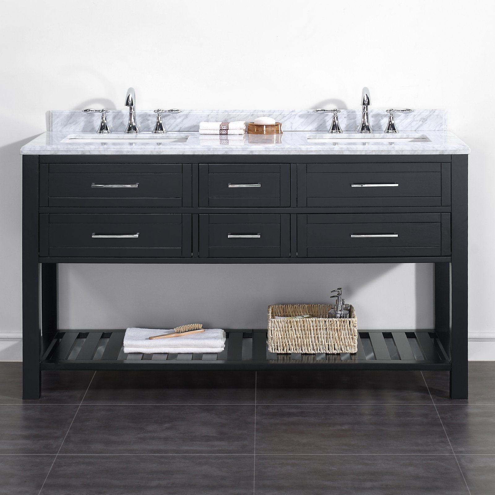 Ove Decors Sarasota 60 In Double Bathroom Vanity Walmart Com Walmart Com
