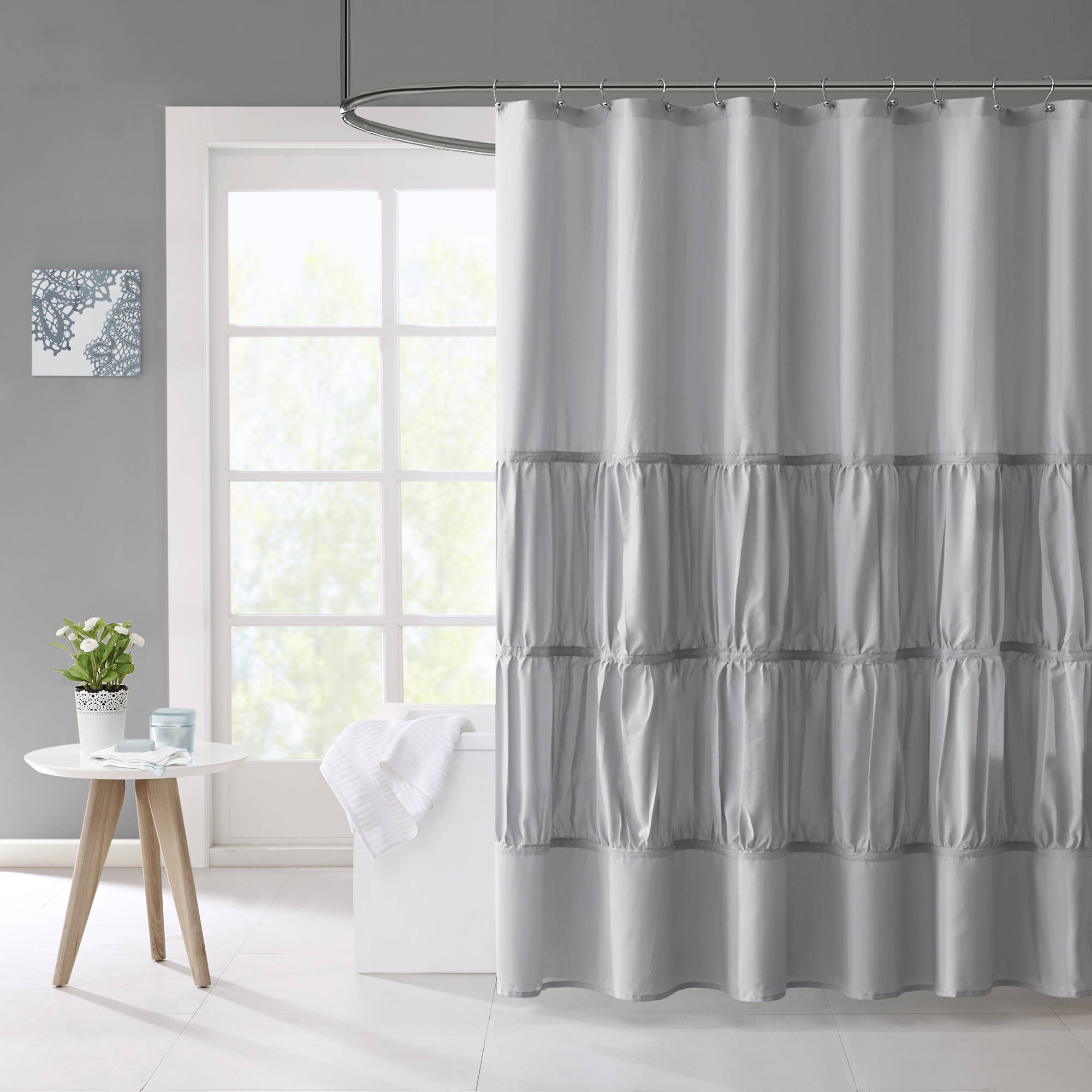 Home Essence Teen Haley Microfiber Shower Curtain