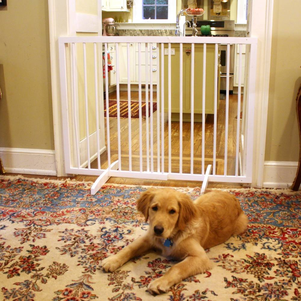 "Cardinal Gates Extra Tall Freestanding Pet Safety Gate 27.5"" to 51"" wide x 36"" tall"