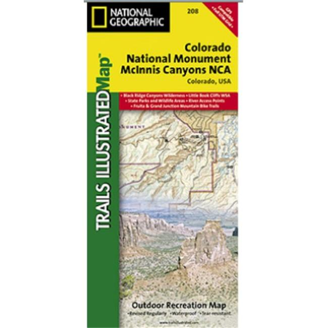 National Geographic TI00000208 Map Of Colorado National Monument ...