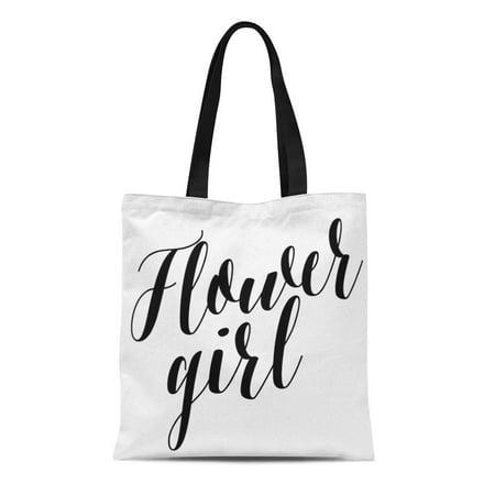 ASHLEIGH Canvas Tote Bag Bridesmaids Script Flower Girl Wedding Best Friend Party Reusable Handbag Shoulder Grocery Shopping Bags](Bridesmaid Tote)