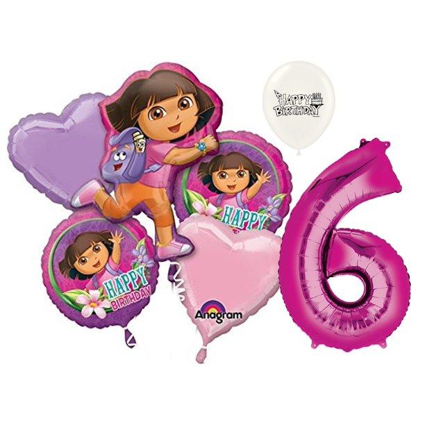 Surprising 6Th Birthday Dora The Explorer Balloon Bouquet Walmart Com Personalised Birthday Cards Xaembasilily Jamesorg