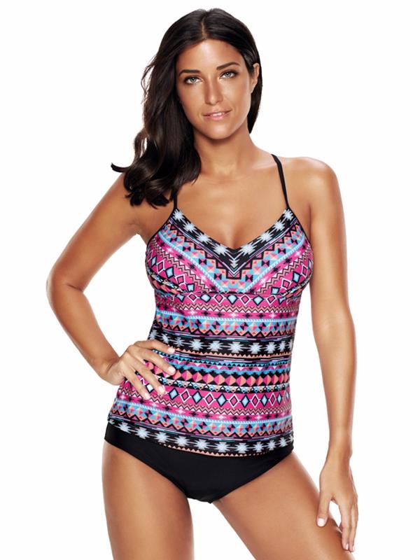2018 New Fashion Plus Size Women's Vintage Tankini Swimwear Sports Bra and Tankini,Pair With Shorts (L, XL, 2XL, 3XL,... by