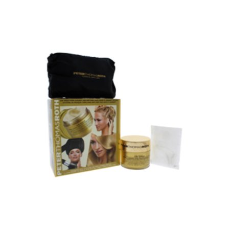 24K Gold Pure Luxury Age-Defying Hair Mask & Bonnet System by Peter Thomas Roth for Unisex - 1 Pc Kit 4.9oz 24K Gold Pure Luxury Age-Defying Hair Mask, Signature PTR Bonnet, 6 Pc Shower Caps - image 1 of 3