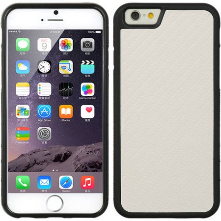 Mundaze Apple iPhone 6/6S Plus Carbon Fiber Textured Phone Case, White Ivory ()