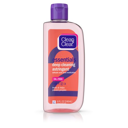Clean & Clear Essentials Oil-Free Deep Cleaning Astringent, 8 fl. (Best Essential Oil For Face Toner)