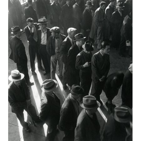 Unemployed Men Wait In Line To File Social Security Benefit Claims In January 1938 History