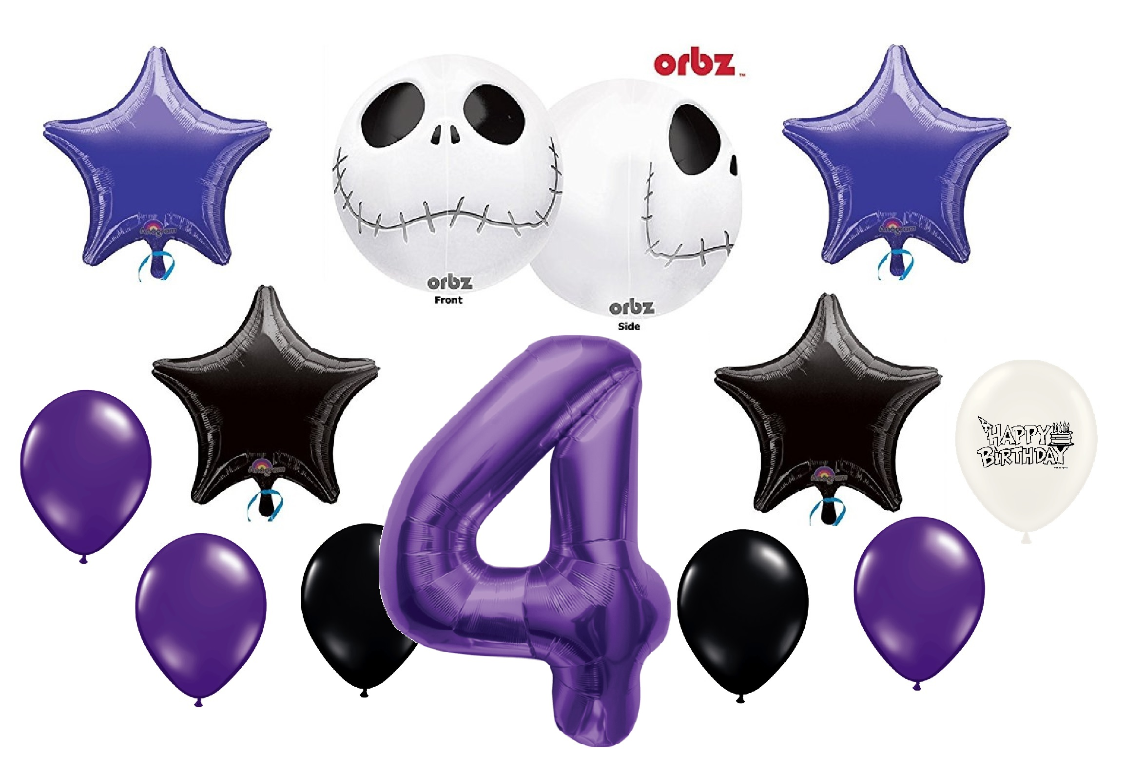 4th Birthday Party Jack Skellington Nightmare Before Christmas ...