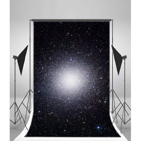 HelloDecor Polyster 5x7ft Photography Background Unlimited Universe Starry Sky Style Photo Backdrop Studio Props Personal (Unlimited Photos)