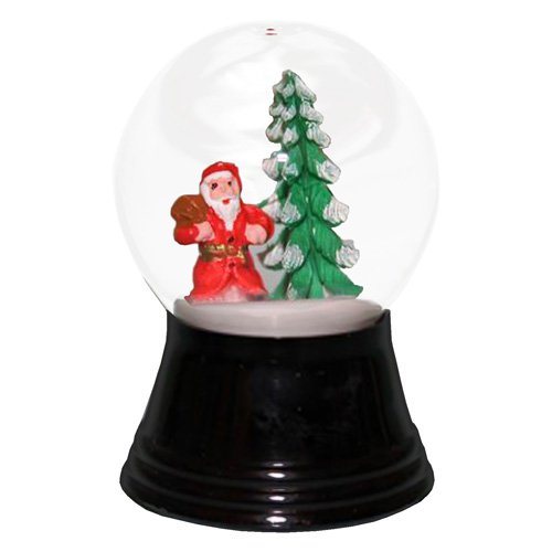 Perzy Small Santa with Tree Snow Globe