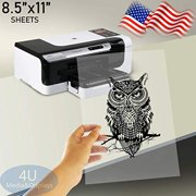 """TIGER-HOO 8.5""""x11"""" / 100 SheetsWaterproof Inkjet Instant-Dry Milk-Transparency Positive Film for Silk Screen Printing,It is Ideal for EPSON HP Canon Printers"""