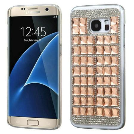 Insten Hard Diamond Cover Case For Samsung Galaxy S7 Edge - Rose Gold - image 3 de 3