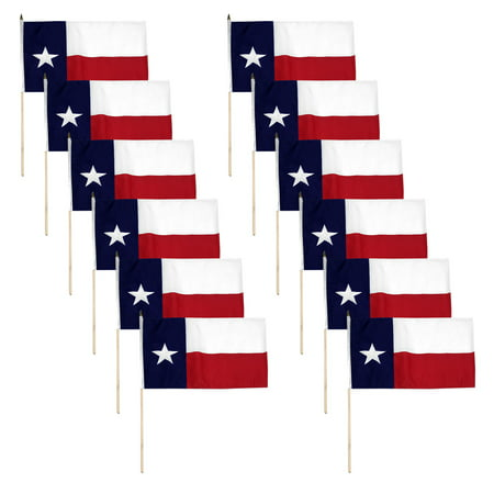 Texas flag 12 x 18 inch -12PK](Halloween Six Flags Fiesta Texas)