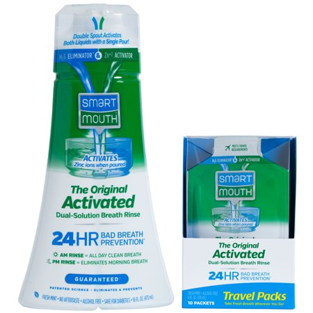 Travel Rinse - SmartMouth Original 24HR Fresh Breath Oral Rinse and box of Travel Packs