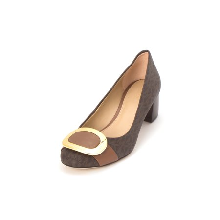 ecca462b4998 Michael Kors Womens Pauline Mid Pump Leather Closed Toe Classic - image 2  of 2 ...