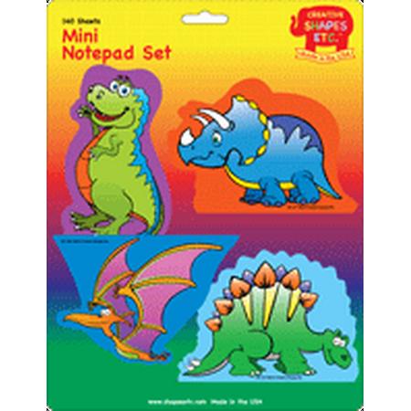 Mini Notepad Set -  Dinosaur -